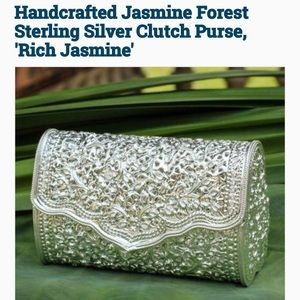 Handbags - Hand Crafted Sterling Silver Clutch Purse w/ Strap
